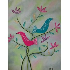 Two Birds by Abi Burlingham  - Signed Limited edition print