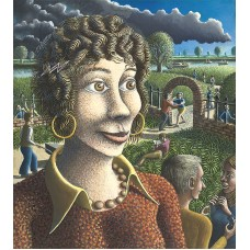 Girl in the Vicarage Garden by Alan Kestner - Non-limited edition print