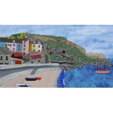Boats at Chesil Cove - Art Prints by Carol Cruickshank