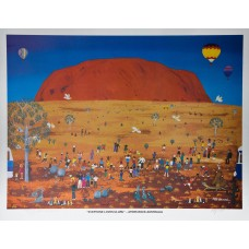 Limited edition Print 'Everyone Loves Ulura - Ayers Rock Australia'