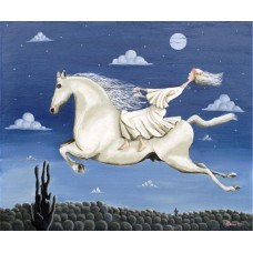 Lady On A White Horse by Noel Barker - limited edition print