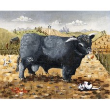 Lucifer The Black Bull by Noel Barker - limited edition print