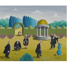 Putting At The Gazebo by Noel Barker - limited edition print