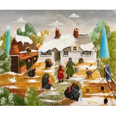 The Turkey Farm by Noel Barker - limited edition print