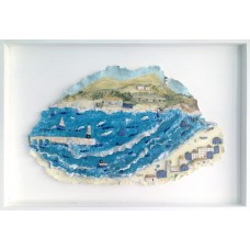 'Beside the Wave' by Julie Harper - 3D painted porcelain picture