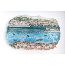 'Sailing By' by Julie Harper - 3D painted porcelain picture